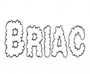 Briac dessin à colorier