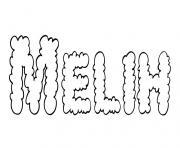 Melih dessin à colorier