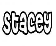 Stacey dessin à colorier