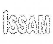Issam dessin à colorier