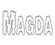 Magda dessin à colorier