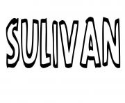 Sulivan dessin à colorier