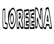 Loreena dessin à colorier