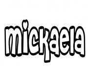 Mickaela dessin à colorier