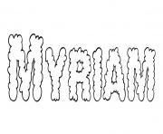 Myriam dessin à colorier