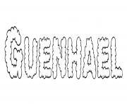 Guenhael dessin à colorier