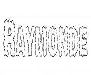Raymonde dessin à colorier