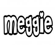 Meggie dessin à colorier