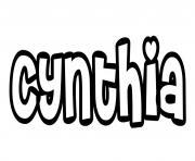 Cynthia dessin à colorier