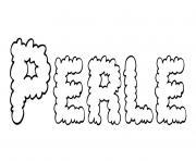 Perle dessin à colorier