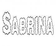 Sabrina dessin à colorier