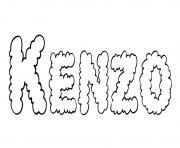 Kenzo dessin à colorier