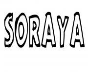 Soraya dessin à colorier