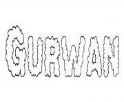 Gurwan dessin à colorier