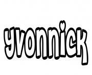 Yvonnick dessin à colorier