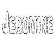 Jeromine dessin à colorier
