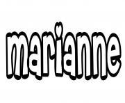 Marianne dessin à colorier