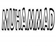 Muhammad dessin à colorier