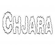 Chjara dessin à colorier