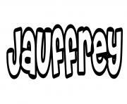 Jauffrey dessin à colorier
