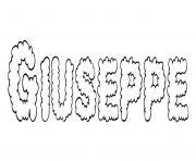 Giuseppe dessin à colorier