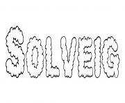 Coloriage Solveig