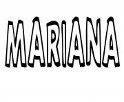 Mariana dessin à colorier