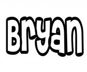 Coloriage Bryan