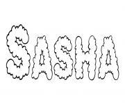 Sasha dessin à colorier