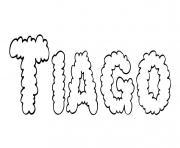 Tiago dessin à colorier