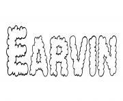 Earvin dessin à colorier