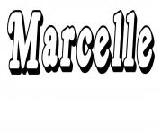 Coloriage Marcelle