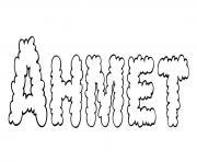 Ahmet dessin à colorier