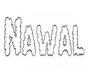 Nawal dessin à colorier