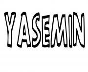 Yasemin dessin à colorier