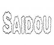 Saidou dessin à colorier