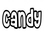 Coloriage Candy