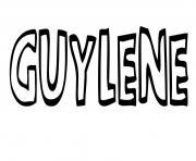 Guylene dessin à colorier