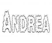 Andrea dessin à colorier