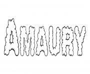 Amaury dessin à colorier