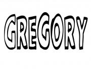 Coloriage Gregory