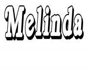 Melinda dessin à colorier