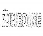 Zinedine dessin à colorier
