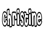 Christine dessin à colorier