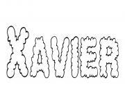 Xavier dessin à colorier