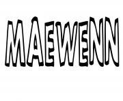 Maewenn dessin à colorier