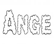 Ange dessin à colorier