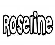 Roseline dessin à colorier