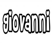 Giovanni dessin à colorier