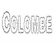 Colombe dessin à colorier